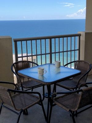 Relax on large balcony with nice ocean views