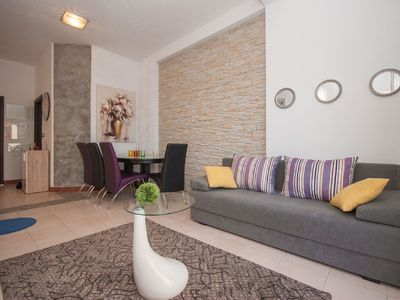 Photo for Cozy apartment with courtyard close to beach