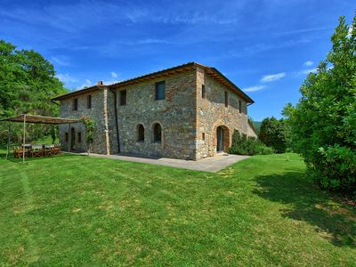 Photo for Stylish, stone-built villa with 7 bedrooms, private pool and stunning views
