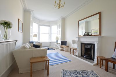 Lovely south west aspect living room with bay window