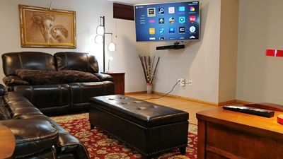Photo for Luxurious Family-Friendly Basement Apartment (1800 Sq Ft In Size)
