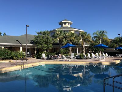 Photo for Wyndham Resort 1700 S.F. 3 Bedrooms Condo with heated Pool, 5 miles from Disney!