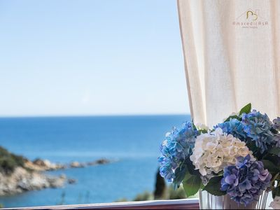 Photo for Bivano with sea view in residence with swimming pool
