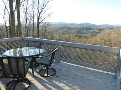 Photo for Genuine Log Cabin with Beautiful Long Range Mountain Views on Private 4 Acres