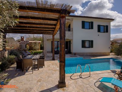 Photo for New villa with pool, garden with olive trees, barbecue and beautiful sea views