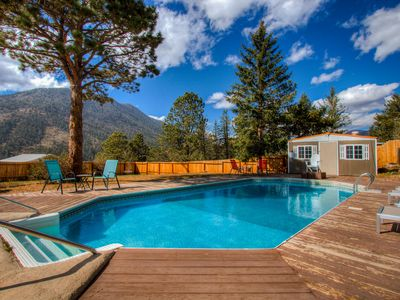 Photo for Luxurious Mountain Home @ base of Pikes Peak -XL hot tub w/ panoramic mtn views