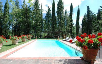 Photo for Villa - PrivatePool, Fenced Garden 6000m², 8-3rooms people, Chianti-Wine-Relax