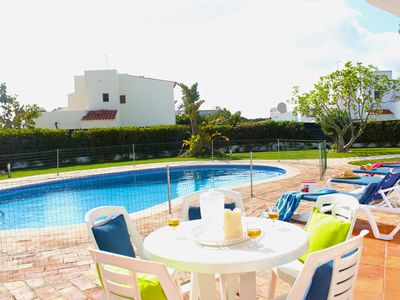 Photo for Beautiful and Spacious Villa near the beach with fenced pool, WiFi and A/c