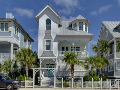 Photo for Welcome to the Annie Laurie Cottage!  5 Bedrooms/4.5 Bath Sleeps 10, Oceanfront Pool, Rooftop Deck!!