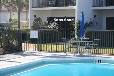 Sans Souci is a poolside unit