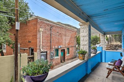 Enjoy a private balcony when you book this Bisbee vacation rental apartment.