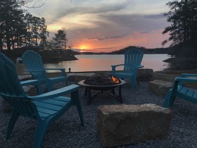 Photo for Fall getaways, sunsets, firepit, Christmas tree in Dec!!  We have it all.