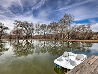 Photo for NEW-Rimrock Cabin on Ranch w/Pond - Horses Welcome