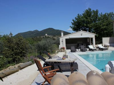 Photo for Mirabel aux Baronnies, near Mont Ventoux, comfortable cottage with pool