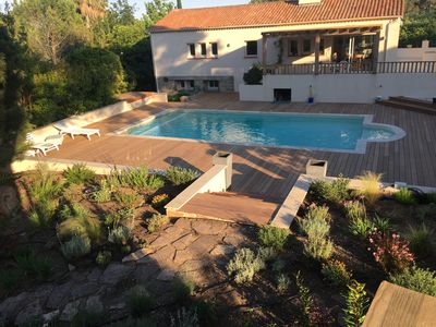 Photo for Family villa with pool 5 minutes from the beach