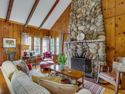 Photo for PERFECT FOR FOUR: Fireplace. Firepit. Screened-in Porch. Quiet surroundings.