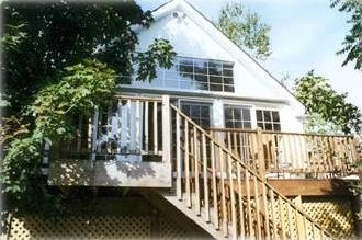 View of Deck and Rear Entrance