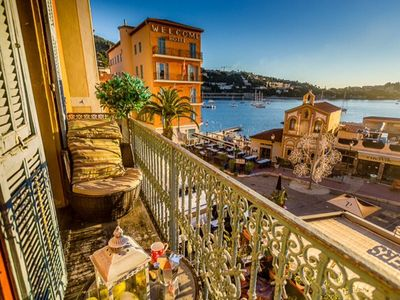 Photo for Stunning Two Bed Apartment With Sunny Balcony Overlooking Bay Of Villefranche