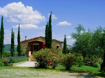 Photo for Tuscan country house, lovingly restored, set in an olive grove