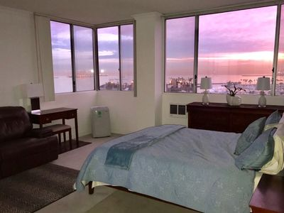 Photo for On theWater, beautiful Ocean View from Sunrise to Sunsset, next2 Convention CTR!