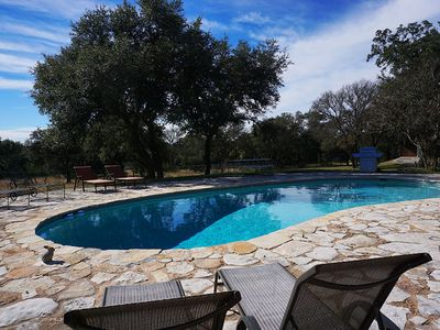 Photo for Spacious Wimberley Estate with Pool, Guest House, and comfortable sleeping space for up to 16!