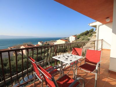 Photo for Two bedroom apartment with terrace and sea view Duće, Omiš (A-8631-a)