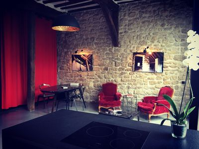 Photo for Loft rental with fitted kitchen and garden at the Portes de Paris