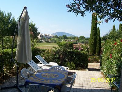 Photo for Apartment close to the sea in a private gulf area of St Tropez