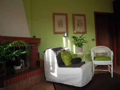 Photo for Sunny Green-style studio with terrace 10 minutes from the lake + free bikes