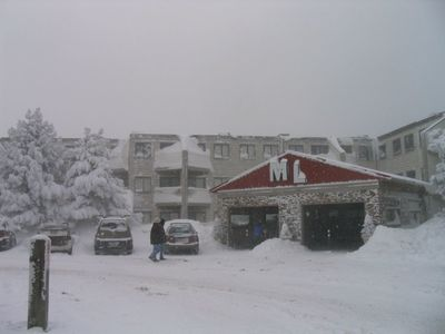 Photo for Great Ski Location. Ski in and out of slopes steps away from Ballhooter lift...