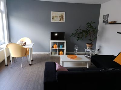 Photo for Modern house at Rotterdam with garden grats parking