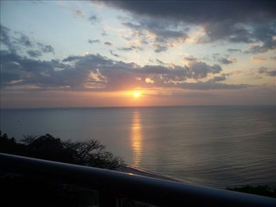 This was taken from the balcony and is the sunrise over the Pacific Ocean.. WOW!