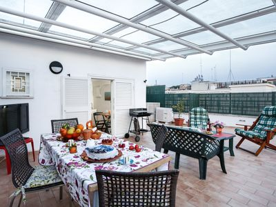 Photo for Enjoy the Sunset on Your Vatican Terrace - Apartment for 7 people in Roma