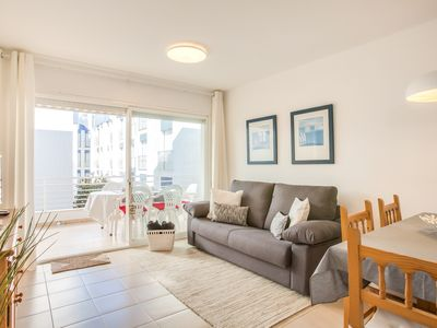 Photo for WHITE APARTMENT with TERRACE, AC & PARKING, NEAR BEACH