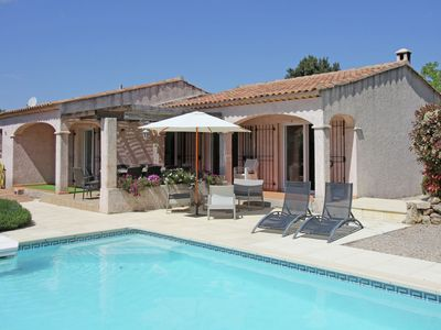 Photo for Beautiful Provencal villa with two swimming pools and large flowered garden near village