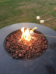 Fire pit for those late night s'mores!
