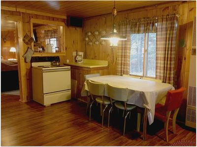 Photo for RIVER BEND LODGE on Au Sable River: Pet-friendly Au Sable cozy cabin!
