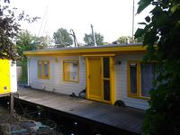 A gorgeous location and quirky houseboat full of art!