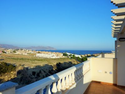 Photo for STUNNING 3 BED HOUSE. SEA VIEWS, NR BEACH, POOL, AIR CON, FREE WiFi, NETFLIX...