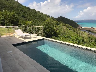 Villa with gorgeous views over Anse Marcel Beach