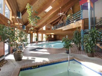 Photo for Incredible Panoramic Mountain Views! Private Deck w/Gas Grill, Fireplace- Clubhouse w/ HotTub & Pool