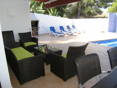 Photo for JUST 400 METERS Moraira, WIFI, POOL TERRACE, MAX 8 PEOPLE,