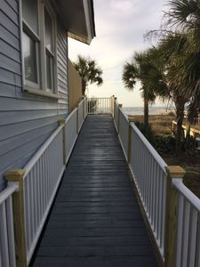Ramp leading to deck