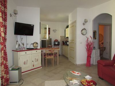 Photo for Relax in a nice apartment on the sea, garden, barbecue and A. conditioning
