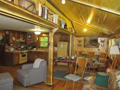 """Photo for NICE FULLY FURNISHED QUIET ADIRONDACK CAMP """"UNCAS ROAD CABIN IN THE FOREST"""""""