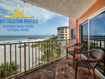 Photo for BEACHFRONT. Totally updated Corner w 2 balconies! Covered Parking and Free WIFI