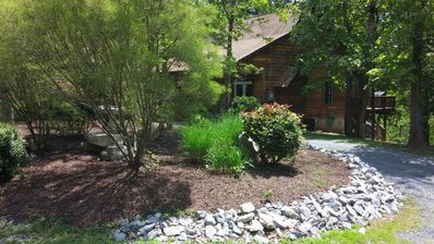 Photo for SmileInn Over the River, Log Cabin w/ Private Riverfront! Pet Friendly!