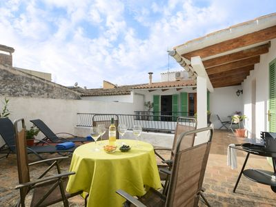 Photo for Sunset Cas Sastre with private roof terrace and barbecue in the oldtown of Alcudia