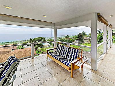 Balcony - A wrap-around balcony with sweeping ocean views offers a fabulous entertaining space.