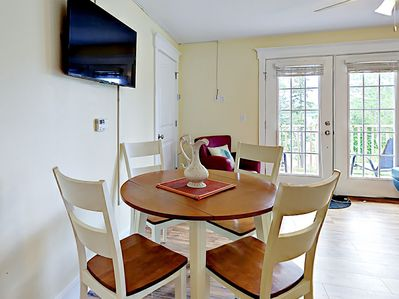 Dining Area - A contemporary wood table seats 4.
